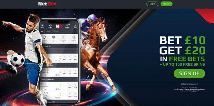 NetBet_welcome_£20_free_bets