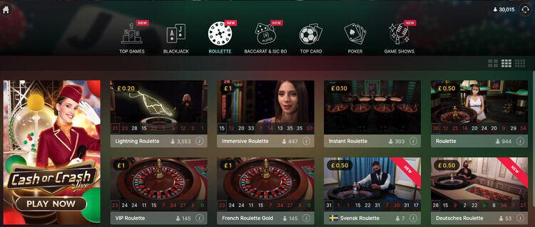 Casino_gods_roulette_lobby_screenshot
